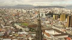 Cross and Quito Ecuador Aerial Stock Footage