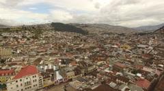Descending Aerial of Quito Ecuador Stock Footage