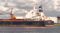 Cargo ship Genco Aquitaine, 4k clip Stock Footage