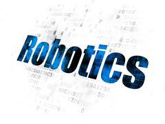 Science concept: Robotics on Digital background Stock Illustration