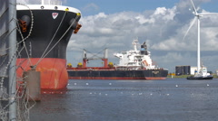 Cargo ship Genco Aquitaine Stock Footage