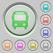 Bus push buttons Stock Illustration