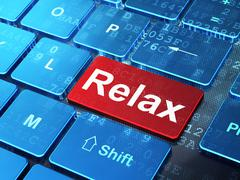 Holiday concept: Relax on computer keyboard background Stock Illustration