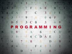 Programming concept: Programming on Digital Data Paper background Stock Illustration
