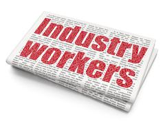 Manufacuring concept: Industry Workers on Newspaper background Stock Illustration