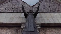 Juan Pablo II in Ecuador Quito - Open arms of the church Stock Footage