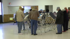 Ohio voters cast their ballots in the presidential election. Stock Footage