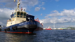 Motor vessel hans Scholl, 4k. Stock Footage