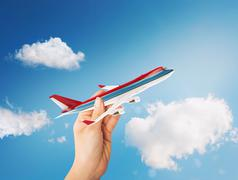 3D Rendering toy airliner Stock Illustration