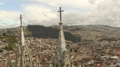 Quito Church Close Fly By- Stock Footage