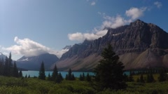 Bow Lake, Canada (Time lapse) Stock Footage