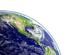 Hurricane Matthew appraching America Piirros