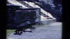 1964: boys near canons put on carts and displayed in a fort CHARLESTON Stock Footage