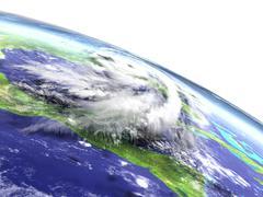 Hurricane Matthew disaster Stock Illustration