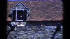 1964: tourists visit an old stone castle or fort CHARLESTON, SOUTH CAROLINA Stock Footage