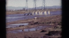 1964: dried up lake, highway, and billboard NEW MEXICO Stock Footage