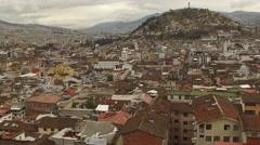Quito Ecuador Slider Aerial Downtown Stock Footage