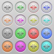 Vertical split plastic sunk buttons Stock Illustration