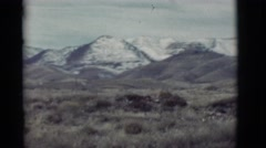 1964: a beautiful land with grassland and mountain ranges NEW MEXICO Stock Footage