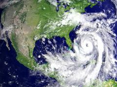 Hurricane Matthew above Florida Stock Illustration