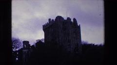 1969: an old majestic fort made of stone amid woods IRELAND Stock Footage