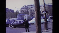 1969: the street the movement and the people, busy and cars and everything that Stock Footage