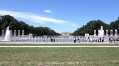 National World War II memorial landscape in Washington DC 4k Stock Footage