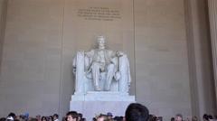 Visitors at the Lincoln Memorial Washington DC 4k Stock Footage