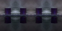 360 VR 3D Animation Monolith with rotating levels shows I GING oracle hexagrams Stock Footage