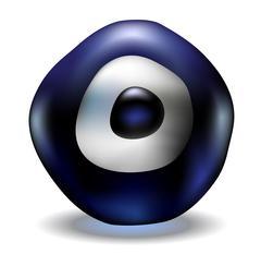 Blue Evil Eye Stock Illustration