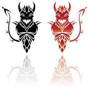Devil Tattoos Stock Illustration