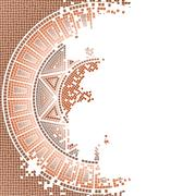 Antique Mosaic Background Stock Illustration