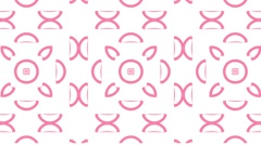 Pink Pattern Dance Stock Footage