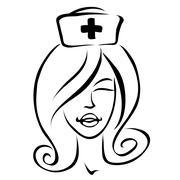 Cartoon nurse Stock Illustration