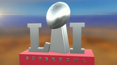 Super Bowl 51 NFL Football Intro Stock Footage