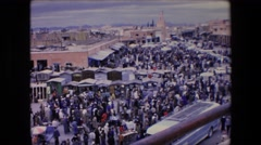 1971: a crowded marketplace in the city ALGERIA Stock Footage
