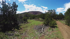 Approaching Red Mountain Extinct Volcano Cinder Cone- Flagstaff AZ Stock Footage