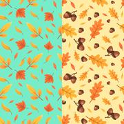 Autumn seamless patterns. Fall leaves. Vector illustration Piirros