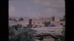 1971: footage of multiple ancient ruins in a desert setting ALGERIA Stock Footage