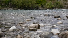 View of Mountain river and stones Stock Footage