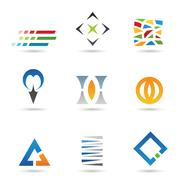 Abstract Shapes and Icons Stock Illustration