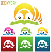 Book worm icons Stock Illustration