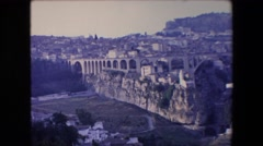 1971: old panorama video of beautiful town with bridge ALGERIA Stock Footage