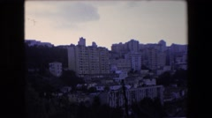 1971: a large city situated on the side of a hill or mountain ALGERIA Stock Footage