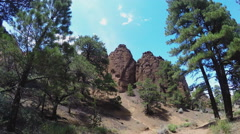 POV Hiking At Red Mountain- Coconino National Forest- Flagstaff Stock Footage