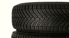 All year tyre (for winter and summer season) Stock Footage