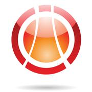 Colorful Planet Orbit Abstract Icon Stock Illustration