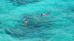 Snorkeling near Similans Stock Footage