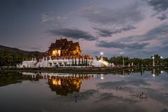 Royal Flora temple Chiang Mai, Thailand Stock Photos