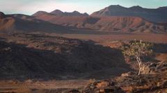 Static wide shot of  vast Namibian desert  landscape Stock Footage